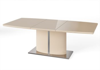flavio extending dining table in cream high gloss