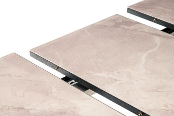marble effect extending dining table