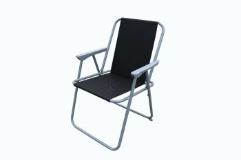 Black fabric chair for outdoor furniture set