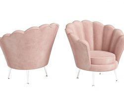 Pink shell shaped lounge chair