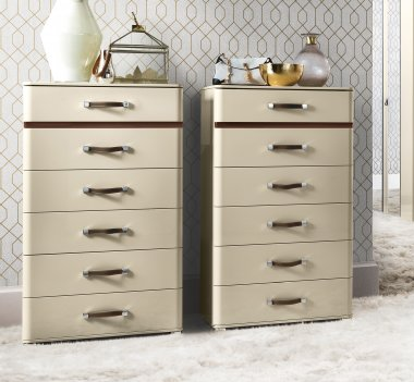 Ivory tallboy chest camel group altea night range