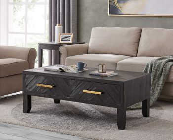 hercules dark wood coffee table by Derrys Furniture