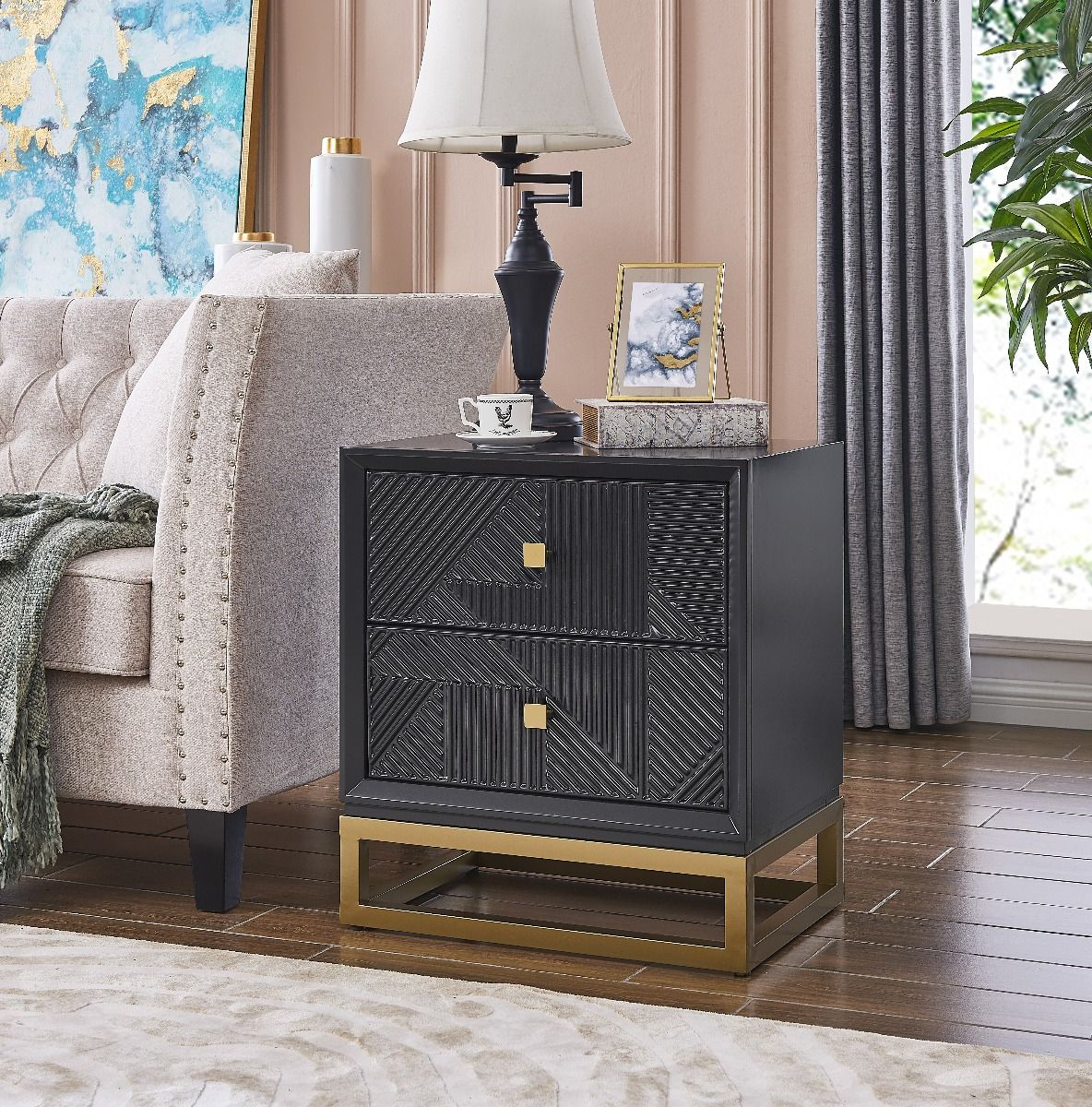Derrys Orlando 2 Drawer Side Table