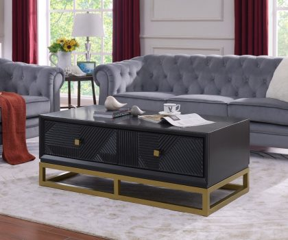 derrys furniture orlando coffee table with two drawers