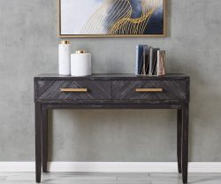 Black and Gold Console Table by Derrys Furniture