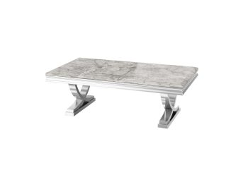 light grey marble coffee table