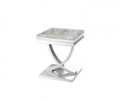 light grey marble lamp table