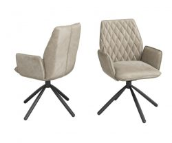 Mink swivel dining chair