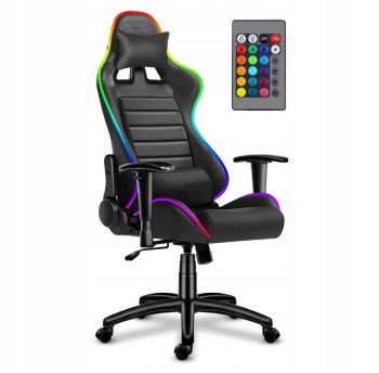 reclining leather LED gaming chair