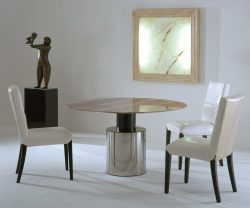 Stone international athena round dining table